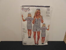 NEW BAD GIRL DOUBLE ZIP PRISONER COSTUME ADULT MEDIUM -CHARADES- PINK/BLACK
