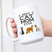 Best Cat Mom Ever Coffee Mug Purrfect Gift for Cat Lovers Fun Birthday Gift for