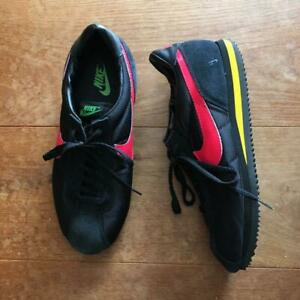 NIKE Classic Cortez Black, Red, Yellow, Green Nylon Size11.5 Men's Sneakers USED