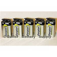 5 Energizer Industrial 9 Volt (9V) Alkaline Batteries (EN22, 6LF22, 6AM6)