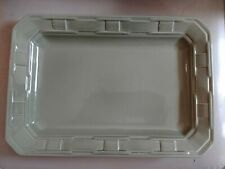 Longaberger Pottery Sage Serving Platter Plate Tray