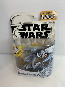 Star Wars General Grievous Clone Wars Figure Animated Cartoon Network NEW 2005