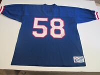 NEW YORK GIANTS #58 CARL BANKS VTG 80's CHAMPION BRAND NFL  MENS XL BLUE JERSEY