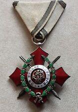 RARE BULGARIAN KNIGHT'S CROSS ROYAL ORDER FOR MILITARY MERIT 5 cl 1933 w/ HONORS