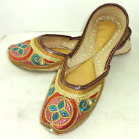 Handmade Women Leather Jutti Mojari Khussa Traditional US Punjabi