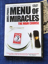 MENU OF MIRACLES VOL 3 THE MAIN COURSE JAMES PRINCE DVD CLOSE-UP MAGIC