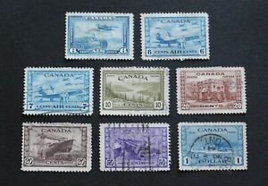 CANADA - SCARCE EARLY LOT TO $1 INCL AIR VFU RR