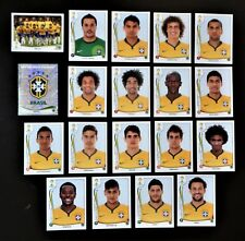 Panini FIFA World Cup Brazil 2014 Complete Team Brazil + Foil Badge