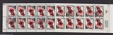 ISRAEL 1992  Anemone Tete-Beche Stamp BOOKLET Bale B.25 Red Flower FDC Cancel