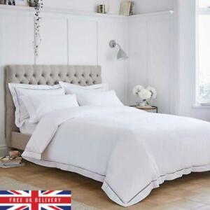 Dusk Paris Duvet Cover - 200 Thread Count - King Size - White Cotton Bedding