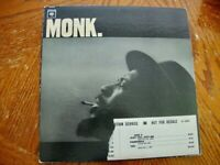 Thelonious Monk Self Titled Wht Lable Promo Columbia Mono Lp Excellent Vinyl