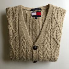 Vintage Tommy Hilfiger V-Neck Sweater Vest - Wool & Cotton - Cable (Large)