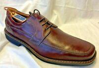ECCO Apron Toe Tie Oxford Brown Men Dress Shoe 45 Eur 11 11.5 USA Lace Leather