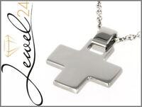 unisex Edelstahl Kreuz Anhänger Stainless Steel cross Pendant z-pcr579