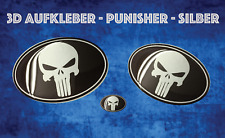 PUNISHER 3D LOGO DOMING GEL STICKER AUTO EMBLEM TUNING 300C