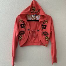 Thursday Island Women's Coral Floral Embroidery Boho Bohemian Cardigan Sweater S