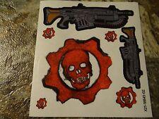 "Gears of War 4 - Stickers / Decals (""Gears Omen"" Logo & Chainsaw Lancer Weapon)"