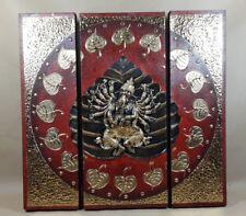 Triptyque Ganesh Rouge/Noir et Or - 60x60 - TB040