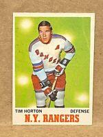 1970-71 O-PEE-CHEE TIM HORTON # 59 - OPC NY RANGERS