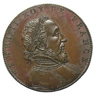 1833 France Henri II King Of France Medal By Armand Auguste Caque