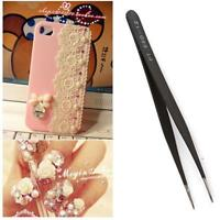 Straight Curved Pointed Tip Eyelash Hair Extension Tweezers Remover Nail Art 6L
