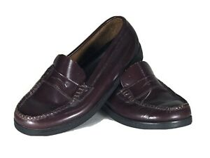 Sperry Colton Leather Round Toe Penny Loafer, Burgundy, Size 5.5