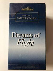 "AIR & SPACE SMITHSONIAN ""DREAMS OF FLIGHT"" 3 VHS BOX SET 1993 sunwest"