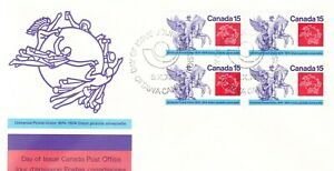 CANADA UNADDRESSED  1974 UPS FIVE FDC - 100 YEARS UPS # 648 - 649