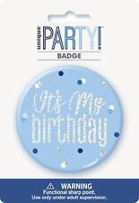 Blue & Silver Glitz 'Its My Birthday' Badge
