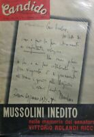 CANDIDO N.49 1957 MUSSOLINI