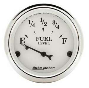 AUTO METER Old Tyme White 2 1/16in Fuel Gauge Ford P/N - 1605