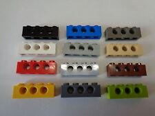 4213607-3701 Lot x6 Lego Brique GRIS F//D GREY Brick Technic 1x4 Holes