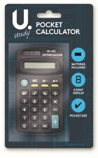 HANDY POCKET SIZE 8 DIGIT CALCULATOR SCHOOL OFFICE HOME INCLUDES BATTERIES SOLAR