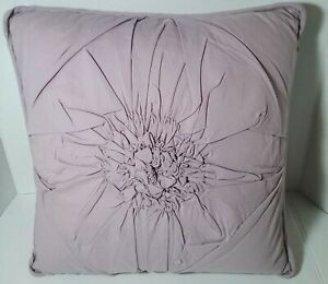 LENOX Blossom Ruched Square Toss Pillow Feather Fill Purple
