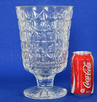 Large Waterford Crystal Tall Footed Vase 10 inches tall 3kg