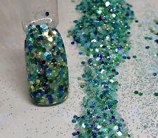 glitter mix nail art acrylic gel    HAU   limited edition