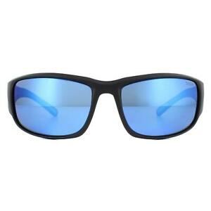 Bolle Sunglasses Keelback 12344 Matte Black Bahamas Offshore Blue Polarized