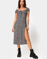 MOTEL ROCKS  Milla Dress in Ditsy Rose Black (mr19.2)