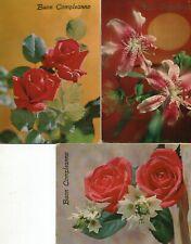N.3 Cartoline anni '60-'70-Buon Compleanno