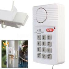 Wireless Security Keypad Door Sensor Alarm System Panic Button Home Garage US