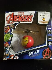 Marvel IRON MAN Flying Helicopter Ball, Control w/ Hand Remote Sensing Toy