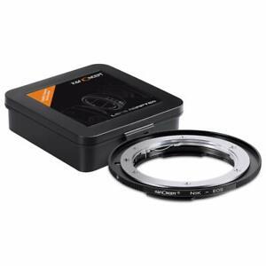 K&F Concept AI-EOS Lens Adapter Ring for Nikon F AI Lens to Canon EOS EF Cameras