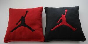 8 Quality Embroidered Cornhole Bags! Michael Jordan NICE! Corn or Pellets! Red!