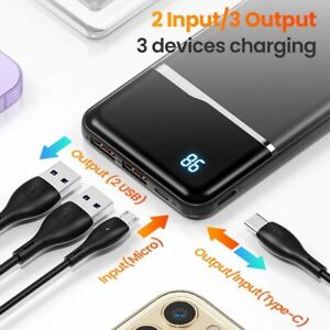 Power Bank KUULAA 10000mah Charger Portable USB Battery Fast Charging Wireless