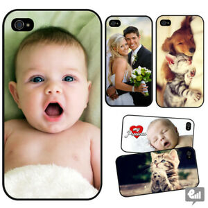 Personalised PHOTO Phone Hard Case Cover for iPhone Any Picture Custom Logo Gift
