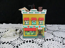 Department  56 Snow Village AL'S TV SHOP Lighted Building 1992