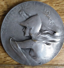 MEDAille medal 1914 revanche ketal medal silver wo1 bronze medaille hetal woman