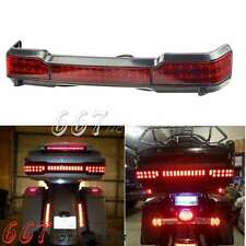 Wrap Around Black LED Tail Light For Harley Touring Trunk King Tour Pack Accent