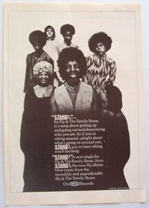 SLY AND THE FAMILY STONE 1969 POSTER ADVERT STAND