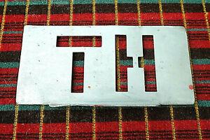 LONDON TRANSPORT GARAGE CODE STENCIL PLATE from THORNTON HEATH (TH)